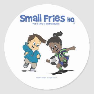 Small Fries HQ Danny and Delores Sticker Round