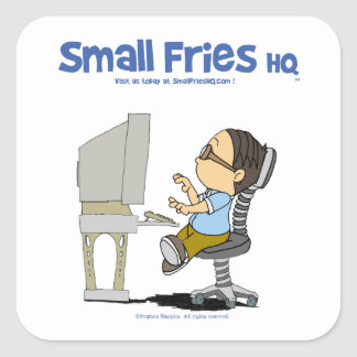 Small Fries HQ Edgar Sticker Sq