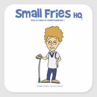 Small Fries HQ Evil Steve Sticker Sq