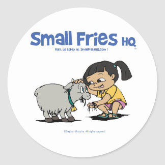 Small Fries HQ Junebug Sticker Round