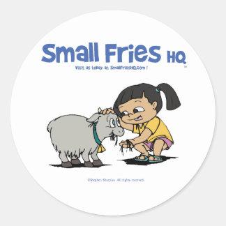 Small Fries HQ Junebug Sticker Round