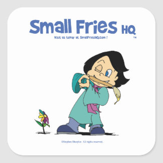 Small Fries HQ Kelly Sticker Sq