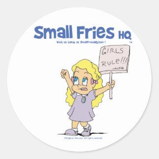 Small Fries HQ Ophelia Sticker Round
