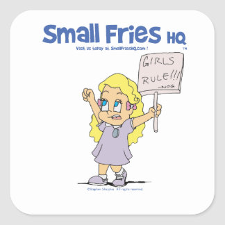 Small Fries HQ Ophelia Sticker Square