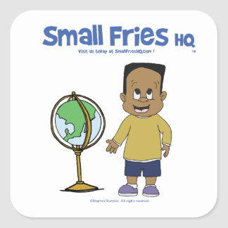 Small Fries HQ Raymond Sticker Sq