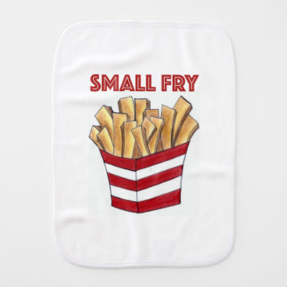 SMALL FRY Foodie French Fries Food Baby Burp Cloth