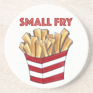 SMALL FRY French Fries Fast Food Junk Foodie Coaster