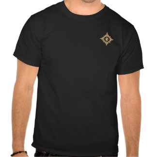 Small Golden Paw Compass Rose Tshirt