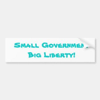 Small Government Big Liberty Bumper Stickers