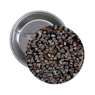 small granite stones pile 6 cm round badge