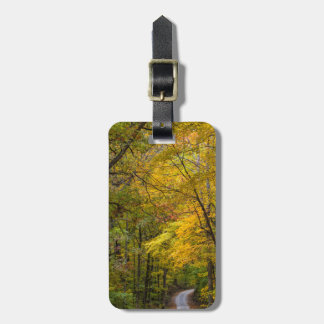 Small Gravel Road Lined With Autumn Color Luggage Tag