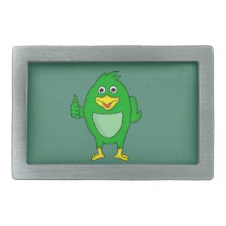 Small green bird design custom belt buckles