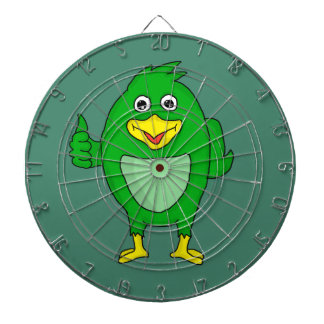 Small green bird design custom dartboards