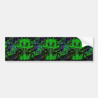 Small green devil bumper sticker