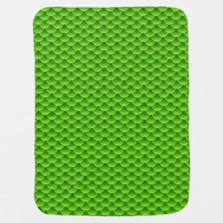 Small Green Fish Scale Pattern Baby Blanket