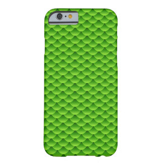 Small Green Fish Scale Pattern Barely There iPhone 6 Case
