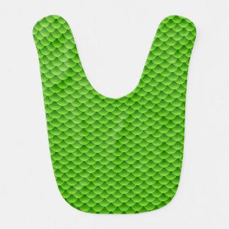 Small Green Fish Scale Pattern Bib