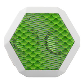 Small Green Fish Scale Pattern White Boombot Rex Bluetooth Speaker