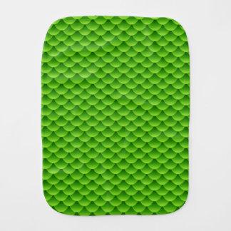 Small Green Fish Scale Pattern Burp Cloth