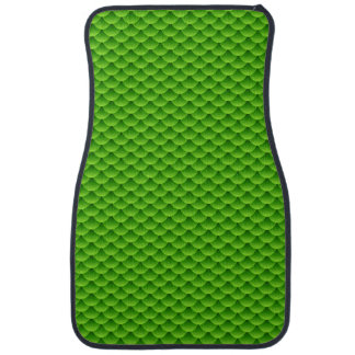 Small Green Fish Scale Pattern Car Mat