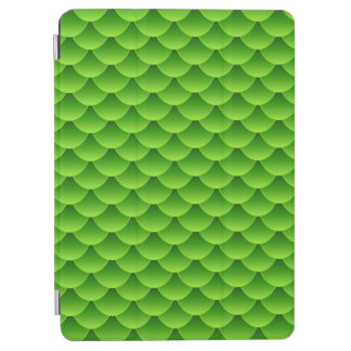 Small Green Fish Scale Pattern iPad Air Cover