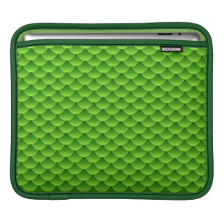 Small Green Fish Scale Pattern iPad Sleeve