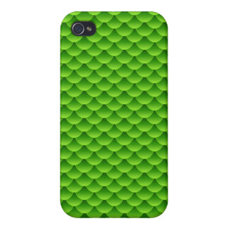 Small Green Fish Scale Pattern iPhone 4 Cover