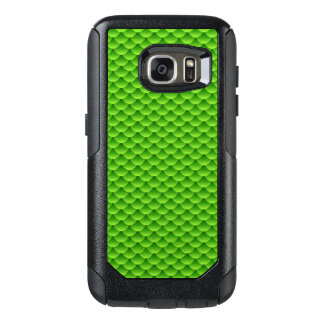 Small Green Fish Scale Pattern OtterBox Samsung Galaxy S7 Case