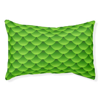 Small Green Fish Scale Pattern Pet Bed