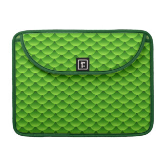 Small Green Fish Scale Pattern Sleeve For MacBooks