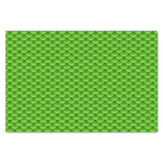 Small Green Fish Scale Pattern Tissue Paper