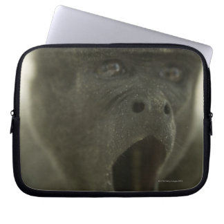 Small grey monkey, outdoors, portrait laptop computer sleeves
