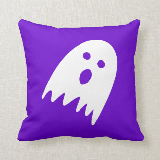 small halloween ghost throw scatter cushion purple