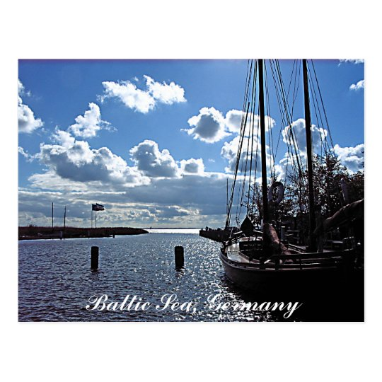 Small-harbour, Baltic Sea, Germany Postcard