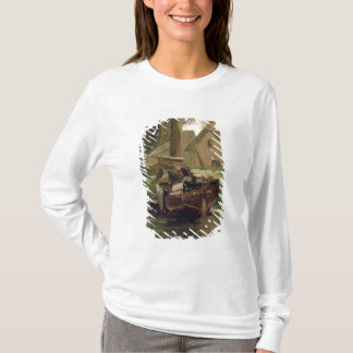 Small Harbour with a Boat T-Shirt