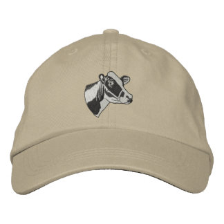 Small Holstein Head Embroidered Hat