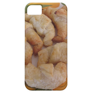 Small homemade salty croissants with sausage iPhone 5 case