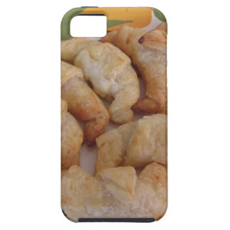 Small homemade salty croissants with sausage iPhone 5 covers