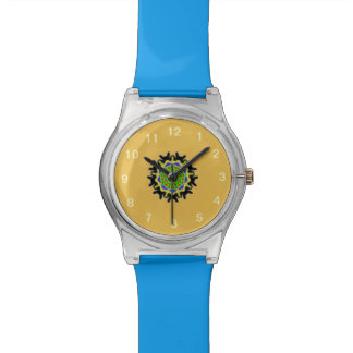 Small kaleidoscope abstract pattern watch