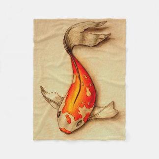 Small Koi Fish Fleece Blanket