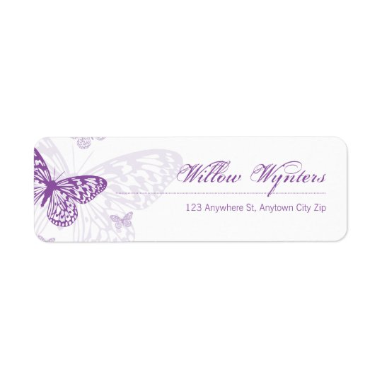 SMALL LABEL SEALS :: butterflies 3 Return Address Label