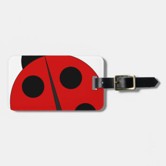 Small ladybird luggage tag