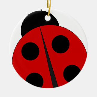 Small ladybird round ceramic decoration