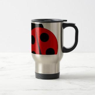Small ladybird stainless steel travel mug