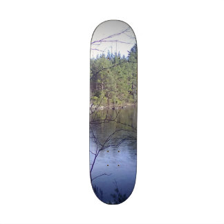 Small lake and forest 20.6 cm skateboard deck