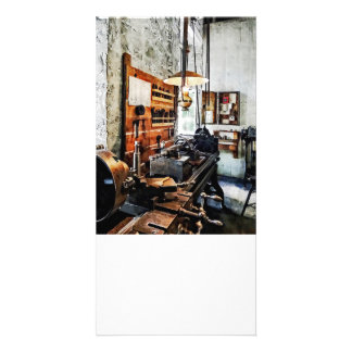 Small Lathe in Machine Shop Photo Cards