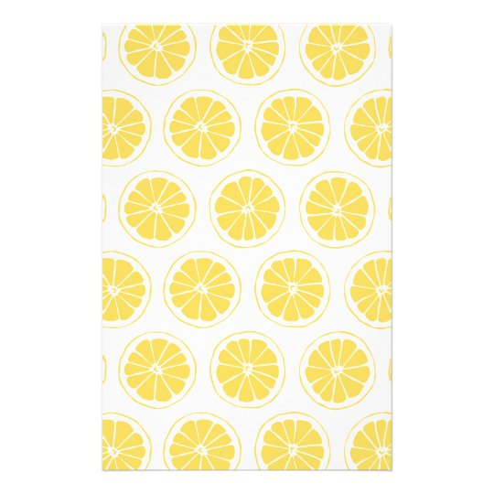 Small Lemon Slices Graphic Pattern Stationery