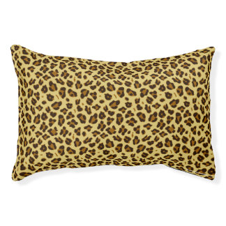 Small Leopard Animal Print Pattern Dog Bed