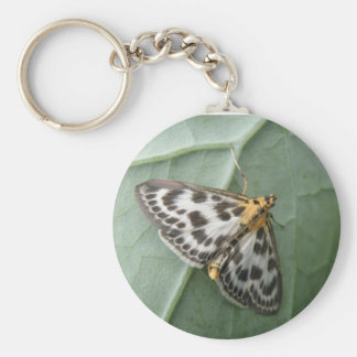 Small Magpie Moth Keychain
