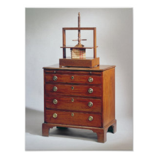 Small Mahogany chest of drawers by Sheraton Poster